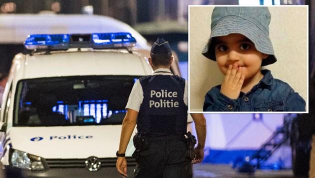Die kleine Mawda wurde während der Verfolgungsjagd von einem Schuss am Kopf getroffen und tödlich verletzt. (Bild: AFP, twitter.com, krone.at-Grafik)