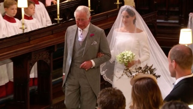 Prinz Charles führte Meghan Markle zum Altar. (Bild: AP)