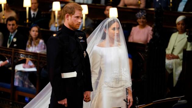 Prinz Harry und Meghan Markle vorm Altar (Bild: WPA Rota)