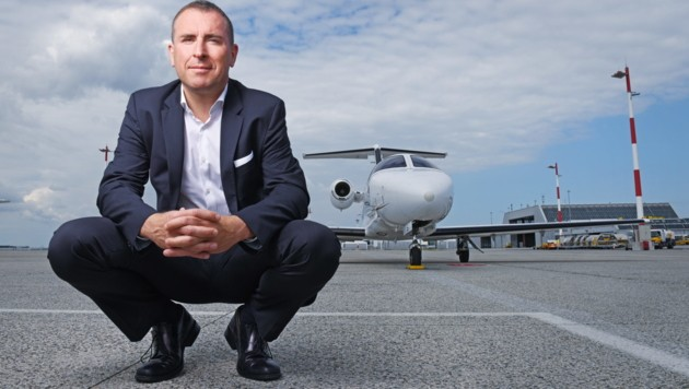 Bernhard Fragner ist Geschäftsführer von GlobeAir. Die Fluglinie arbeitet daran, bei Wartungs-Stopps effektiver zu werden.