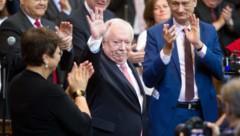 Michael Häupl verabschiedet sich vom Wiener Gemeinderat (Bild: APA/GEORG HOCHMUTH)
