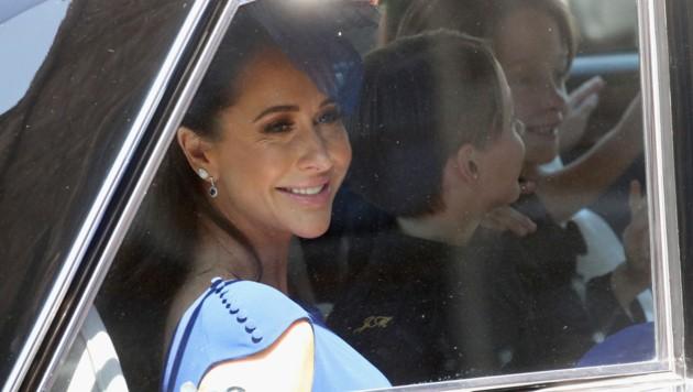 Jessica Mulroney bei der Ankunft vor der St.-Georgs-Kapelle (Bild: AFP and licensors)