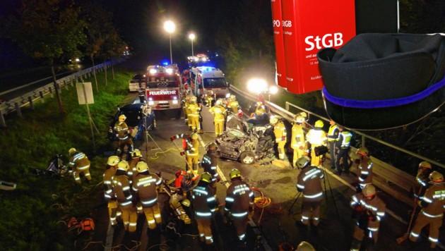 Salzburg, Lofer, tödlicher Unfall (Bild: FF Lofer)