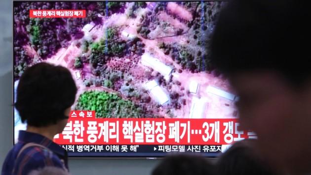 Nordkorea hat sein Atomwaffentestgelände gesprengt