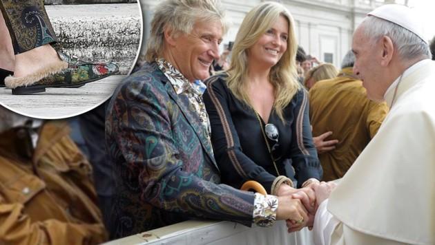 Rod-Stewart-in-Schlapfen-Paisleyanzug-beim-Papst