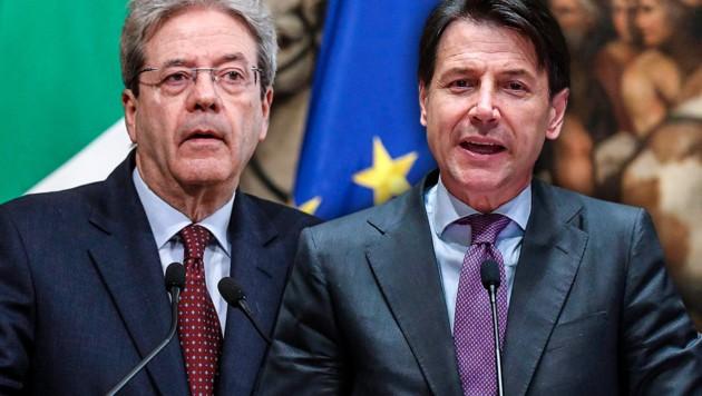 Paolo Gentiloni und Giuseppe Conte (Bild: AP, krone.at-Grafik)