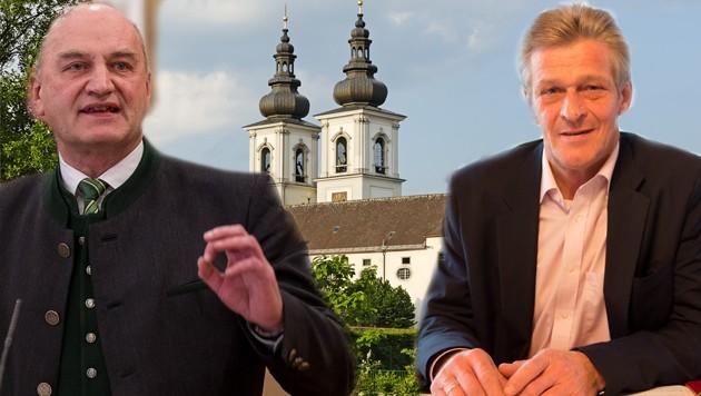 Der Landtagsabgeordnete Christian Dörfel und Bürgermeister Gerhard Obernberger (r.) konnten die ÖVP in Kremsmünster nicht auf Linie bringen. (Bild: Bahmüller, Kerschbaummayr, Krügl)