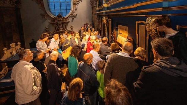 Die Orgel im Innsbrucker Dom konnte aus der Nähe bestaunt werden (Bild: Christian Forcher)