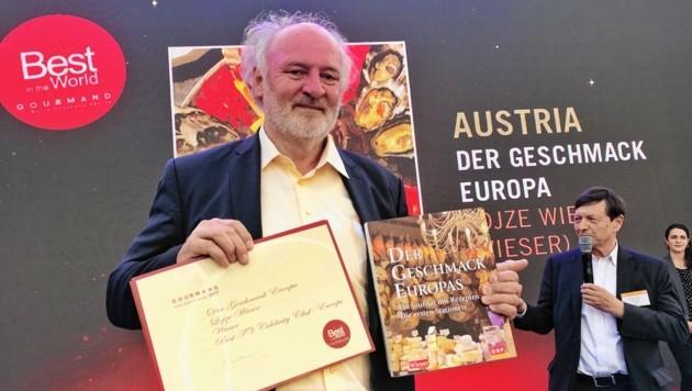 """Wieser gewann den """"Kochbuch-Oscar"""" in Yantai. (Bild: Clara Milena Steiner)"""