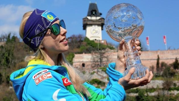 Die Snowboard-Weltmeisterin Marion Kreiner wird neue Parteigeschäftsführerin der VP-Graz. (Bild: GEPA pictures)