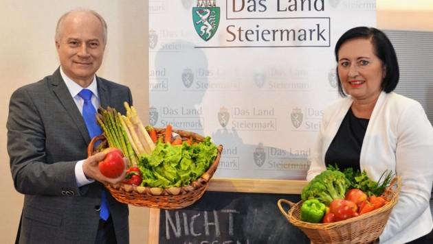Bildungsdirektorin Elisabeth Meixner und LR Hans Seitinger (Bild: Lebensressort)