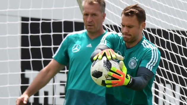 """The """"Mannschaft"""" will train in Rungghof until June 7, 2018. / AFP PHOTO / MIGUEL MEDINA (Bild: AFP)"""