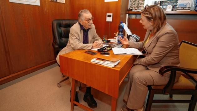 Marko Feingold im Gespräch mit Conny Bischofberger (Bild: Markus Tschepp)