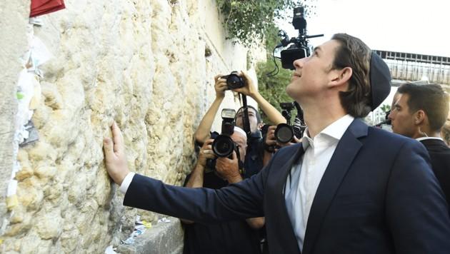 Bundeskanzler Kurz an der Klagemauer in Jerusalem