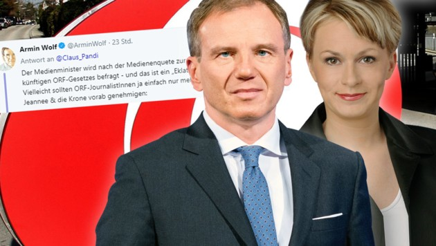 (Bild: APA/GEORG HOCHMUTH, ORF, twitter.com, krone.at-Grafik)