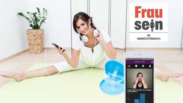 """""""Zehn Minuten pro Tag zu üben, genügt"""", sagt Logopädin und Kiefer-Yoga-Erfinderin Julia Reindl aus Linz. (Bild: Kieferfreund)"""