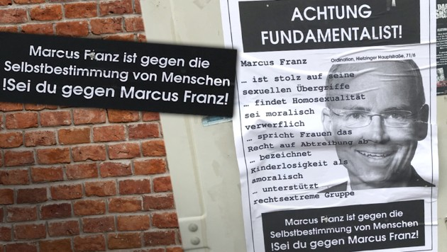 Plakat-Hetze gegen Dr. Marcus Franz (Bild: Marcus Franz, stock.adobe.com, krone.at-Grafik)