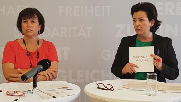SPÖ-Managerin Bettina Stadlbauer und Parteichefin Birgit Gerstorfer gehen nun getrennte Wege. (Bild: Werner Pöchinger)