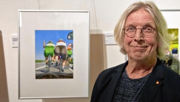 Gerhard Haderer zeigt seine Karikaturen im Greith-Haus (Bild: Johnny What Photography 2018)