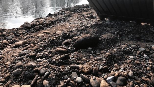 Ende März wurde diese Fliegerbombe bei der Murkraftwerk-Baustelle gefunden. (Bild: LPD Stmk)
