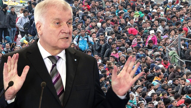 Deutschlands Innenminister Horst Seehofer (Bild: AFP, EXPA/Pixsell/Sasa Despot/Zurnal24l, krone.at-Grafik)