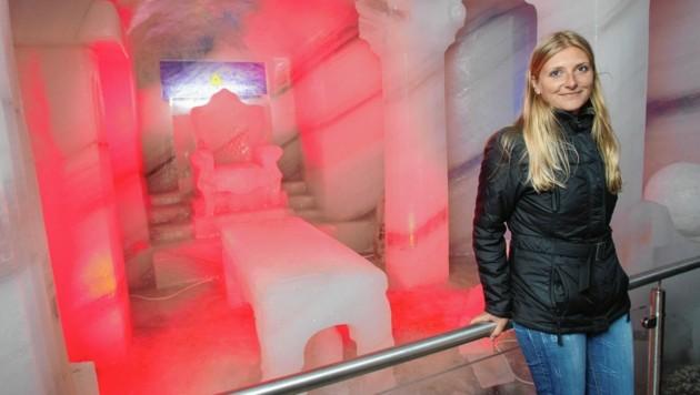 Jahr für Jahr locken neue Ausstellungen Tausende Besucher in den Eispalast am Dachstein (Bild: Jürgen Radspieler)
