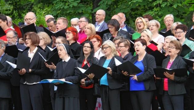 220 Chorstimmen sorgten für eine prachtvolle liturgische Klangkulisse. (Bild: Jauschowetz Christian)
