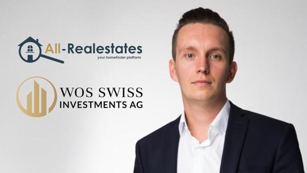 Unternehmer Thomas Wos investiert in die Seite all-realestates.com (Bild: krone.at/ WOS Swiss Investments AG)