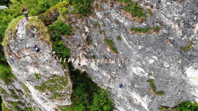 Klettersteig Griffen : Klettersteige schlossberg griffen klettersteig km bergwelten