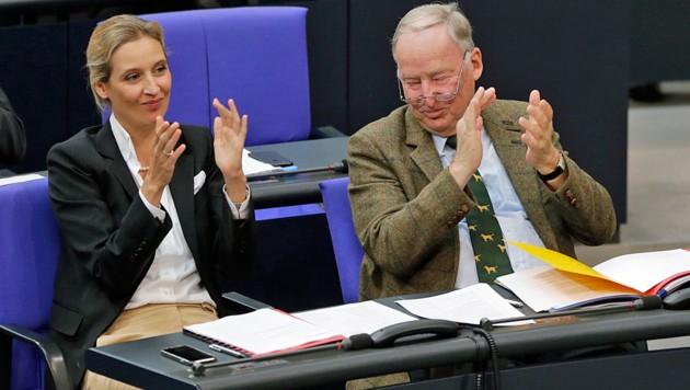 AfD-Chef Alexander Gauland und Fraktionsvorsitzende Alice Weidel haben gut lachen.