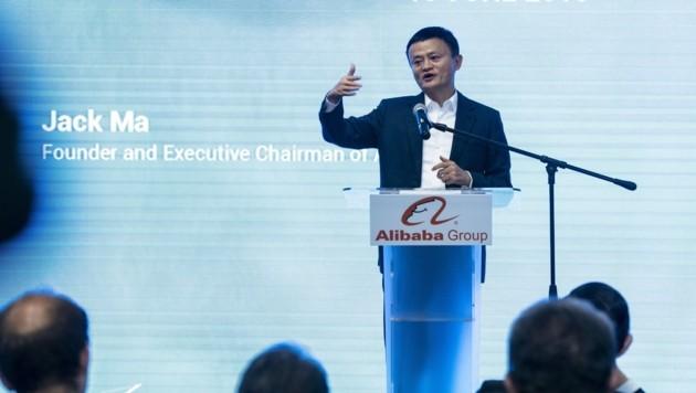 """Jack Ma (Ma Yun) ist als """"chinesischer Bill Gates"""" die Symbolfigur von Chinas Sprung in das Digitalzeitalter. Er brachte das Internet nach China und baute den Riesenkonzern Alibaba auf. (Bild: AFP)"""