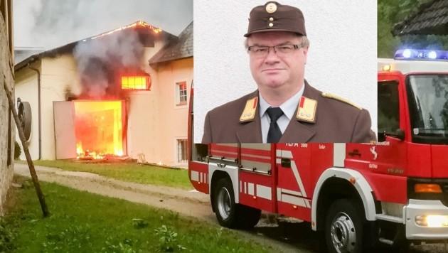 Die Freiwilligen Feuerwehren, wie hier bei einem Brandeinsatz, leisten unverzichtbare Arbeit in Oberösterreich. Abschnittskommandant Hannes Ömer will sie aber nicht in parteipolitische Scharmützel hineinziehen lassen.