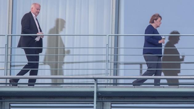 CSU-Chef Horst Seehofer, CDU-Chefin Angela Merkel