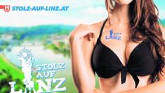 Heiß diskutiert wird derzeit über die FPÖ-Plakate. Sie sind manchen zu sexistisch. Kritisiert wird auch, dass das Logo der Freiheitlichen nicht gedruckt wurde. (Bild: FPÖ Linz)