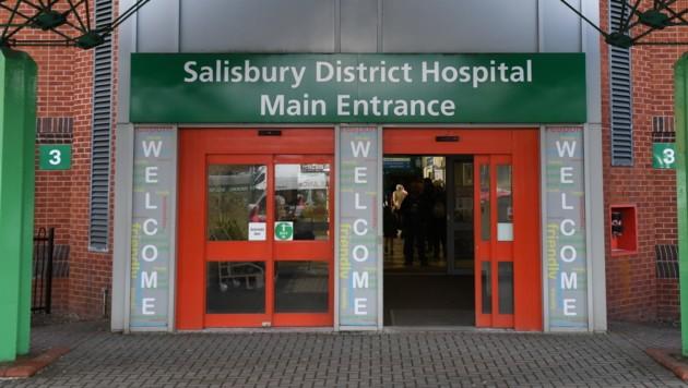 Erneut werden zwei Menschen wegen eines mutmaßlichen Giftanschlags im Krankenhaus von Salisbury behandelt. (Bild: AFP)