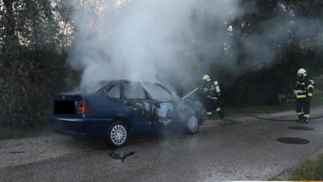 Der Pkw-Brand in Kematen an der Krems
