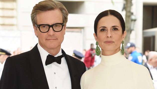 Colin Firth und seine italienische Ehefrau Livia Giuggioli (Bild: 2018 Getty Images)