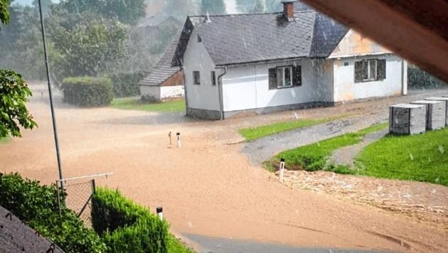 Einmal mehr - heftige Unwetter vor allem in der Weststeiermark