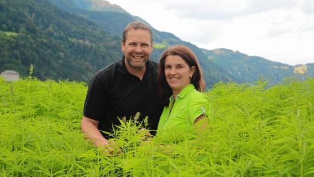 Für Silvia und Bernhard ist der Nutzhanf eine wahre Wunderpflanze. (Bild: Evelyn HronekKamerawerk)