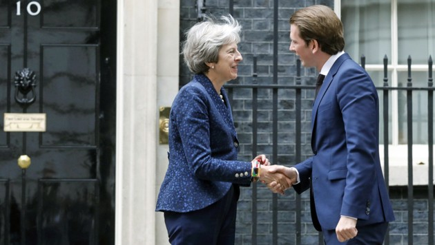 Theresa May und Sebastian Kurz