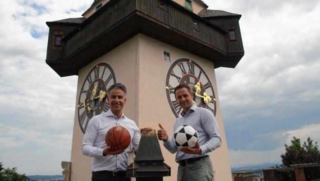 Der Grazer VP-Sportstadtrat Kurt Hohensinner (li.) und FP-Klubobmann Armin Sippel. (Bild: Stadt Graz)
