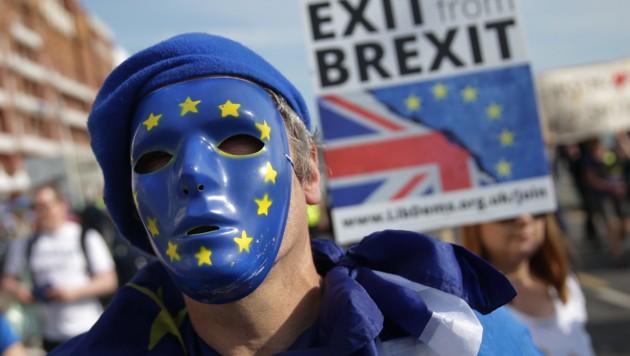 Protest von Brexit-Gegnern (Bild: AFP)