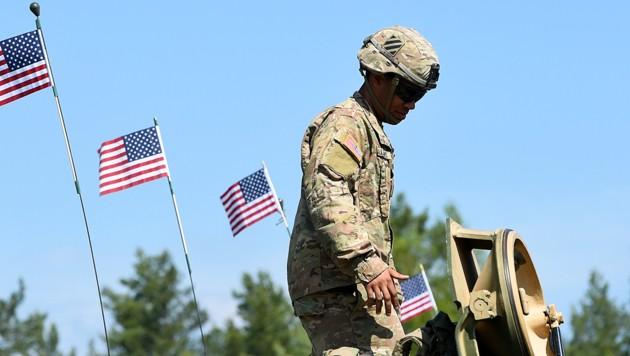 Ein in Deutschland stationierter US-Soldat (Bild: AFP )