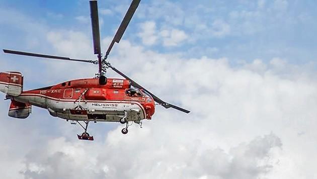 In nicht einmal drei Stunden flog ein Kamov-Transporthubschrauber insgesamt zehn Liftstützen für die neue Gondelbahn Silver Jet I vom Tal auf den Berg. Die Teile für den neuen Lift wiegen insgesamt rund 100 Tonnen.