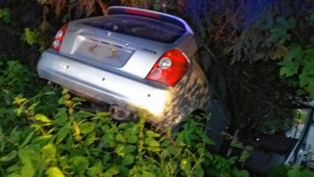 Der Wagen eines Briten wurde über die Böschung geschoben.