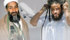 Sami A. (re.) stieg bei Al-Kaida bis zur persönlichen Leibgarde Bin Ladens auf. (Bild: AFP, twitter.com, dpa, krone.at-Grafik)