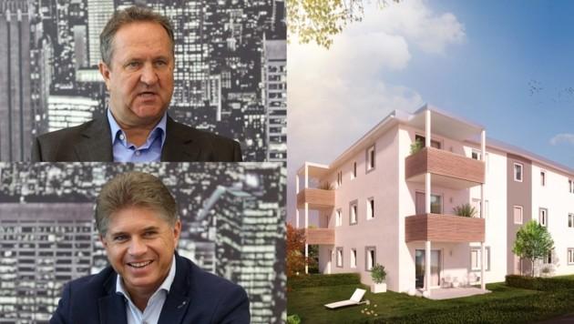 Wolfgang Stabauer (o.) und Mario Deuschl vermittelten mit der Öko-Wohnbau 100 Vorsorgewohnungen seit 2015.