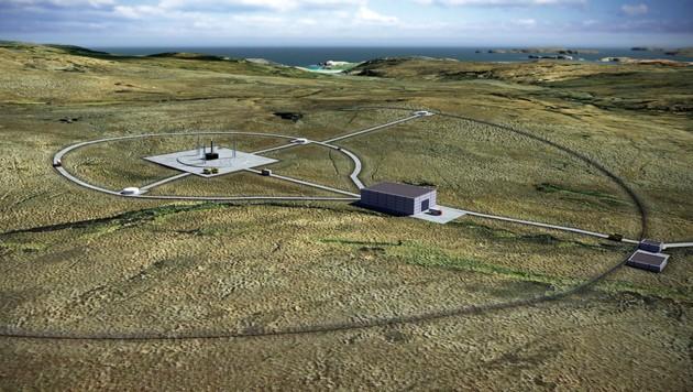 Künstlerische Illustration des Weltraumbahnhofs auf der Halbinsel A'Mhoine (Bild: Perfect Circle PV)