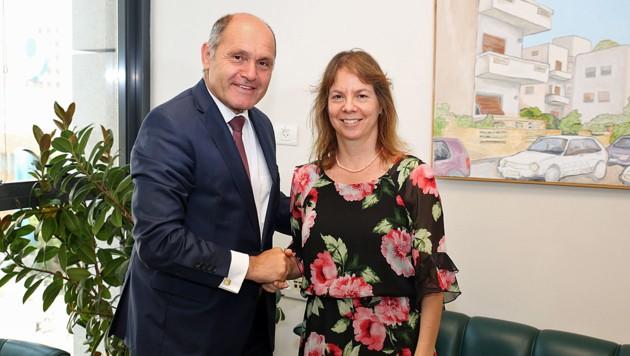 Nationalratspräsident Wolfgang Sobotka traf anlässlich seines Besuchs in Israel auch Racheli Kreisberg, die Enkelin von Simon Wiesenthal.