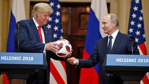 """Entrüstung über """"Hochverrat"""" Trumps in Helsinki"""